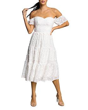 Dress the Population - River Off-the-Shoulder Midi Dress