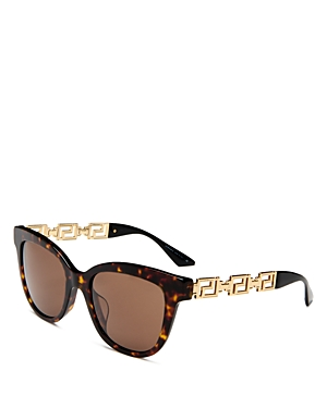 Versace Women's Cat Eye Sunglasses, 54mm In Havana /dark Brown