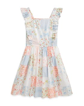 Ralph Lauren - Girls' Ruffle Floral Dress - Little Kid, Big Kid