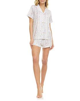 Flora Nikrooz - Kayla Printed Knit Pajama Shorts Set