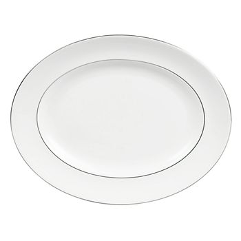 "Vera Wang - for Wedgwood ""Blanc Sur Blanc"" Oval Platter, 14"""