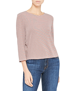 Theory Tops LOWELL SQUARE STRIPED TEE
