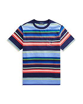 Ralph Lauren - Boys' Cotton Striped Tee - Little Kid, Big Kid