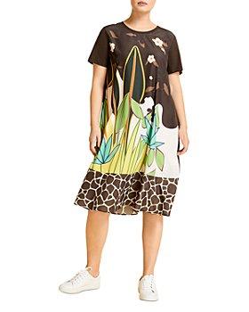 Marina Rinaldi - Offella Printed Short Sleeve Jersey Dress