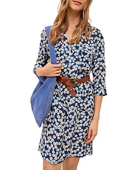 Gerard Darel - Santia Floral Silk Shirt Dress
