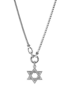 """JOHN HARDY - Men's Sterling Silver Classic Chain Star of David Pendant Necklace, 26"""""""