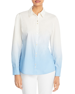 T Tahari Ombre Button Up Shirt