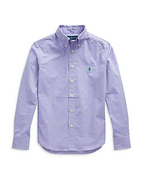 Ralph Lauren - Boys' Gingham Button Down Shirt - Little Kid, big Kid