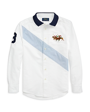 Ralph Lauren Shirts POLO RALPH LAUREN BOYS' POLO COLLAR OXFORD SHIRT - BIG KID