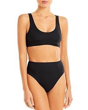 Vitamin A - Sienna Ribbed Bikini Top & Sienna Ribbed High Waist Bikini Bottom