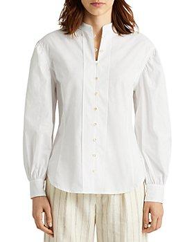 Ralph Lauren - Broadcloth Balloon Sleeve Shirt