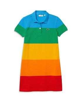 Lacoste - Girls' Polaroid Short Sleeve Polo Dress - Little Kid, Big Kid