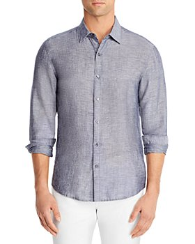 Michael Kors - Slim Fit Linen Button Down Shirt