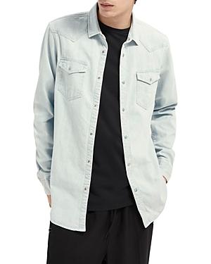 Scotch & Soda Organic Cotton Denim Slim Fit Button Up Western Shirt