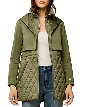 Soia & Kyo - Enora Mix Media Water Repellent Quilted Raincoat