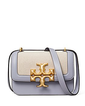 Tory Burch - Eleanor Small Canvas & Leather Convertible Shoulder Bag