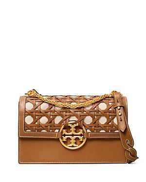 Tory Burch Miller Small Basketweave Leather Shoulder Bag