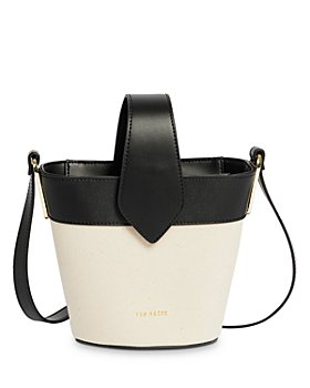 Ted Baker - T Detail Canvas Mini Bucket Bag