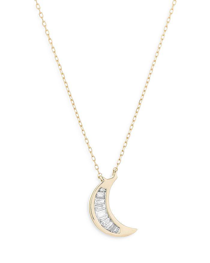 Adina Reyter 14k Yellow Gold Diamond Moon Pendant Necklace, 16