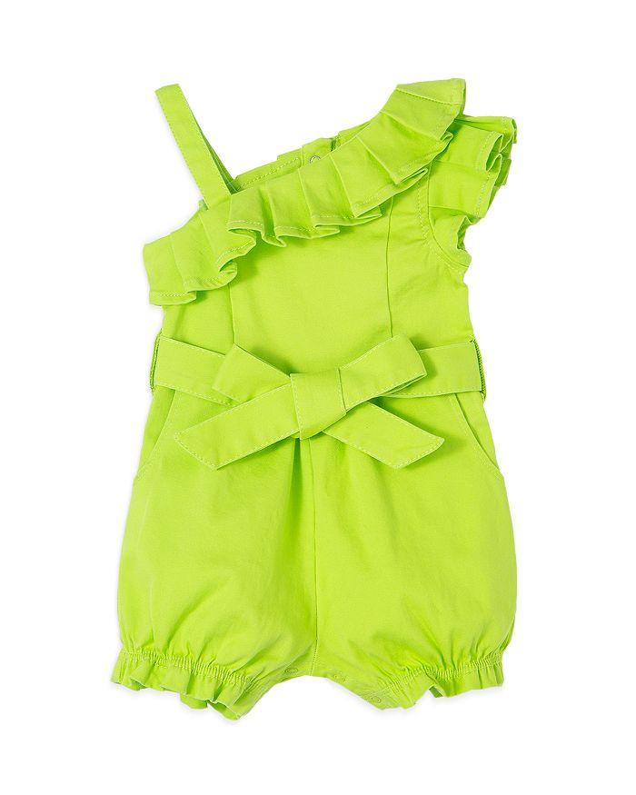Habitual Cottons GIRLS' OFF SHOULDER RUFFLE DENIM ROMPER - BABY