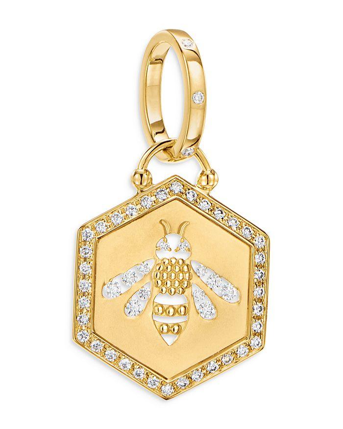 Temple St. Clair 18K YELLOW GOLD DIAMOND BEE PENDANT
