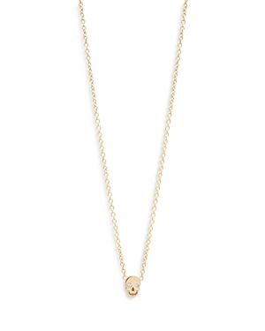 Zoë Chicco 14k Yellow Gold Diamond Skull Pendant Necklace, 16