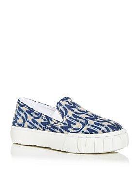 Miu Miu - Women's Jacquard Slip On Platform Sneakers