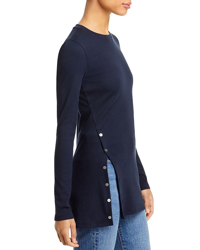 THEORY Tops BUTTON FRONT TEE