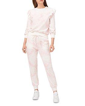 1.STATE - Ruffled Tie Dyed Sweatshirt & Jogger Pants