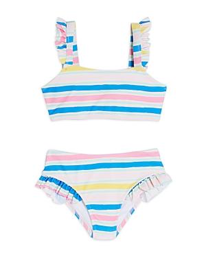 Sovereign Code Girls' Saorsie Striped Two-piece Swimsuit - Little Kid In Multi