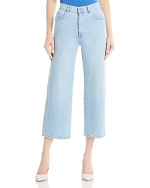 1961 Hepburn High Rise Wide Leg Jeans in Baby Blue
