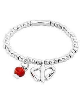 Uno de 50 - Love Freedom Double Charm Beaded Stretch Bracelet