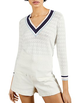 Ted Baker - Stripe Detailed V-Neck Sweater