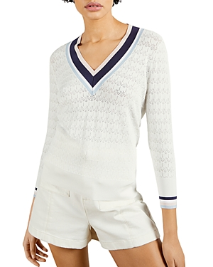 Ted Baker Sweaters STRIPE DETAILED V-NECK SWEATER