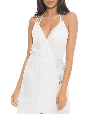 With A Twist Wrap Dress Swim Cover-Up