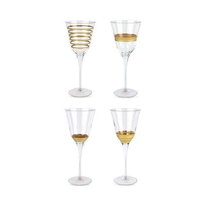 Vietri Clothing RAFFAELLO ASSORTED WINE GLASSES, SET OF 4