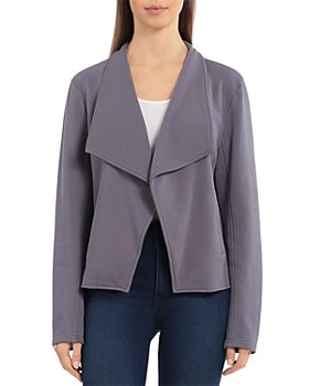 Bagatelle - French Terry Draped Collar Jacket