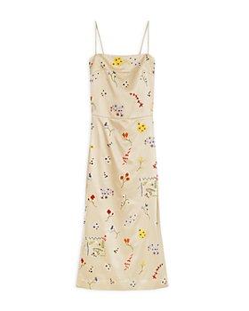 Tory Burch - Embroidered Sheath Midi Dress