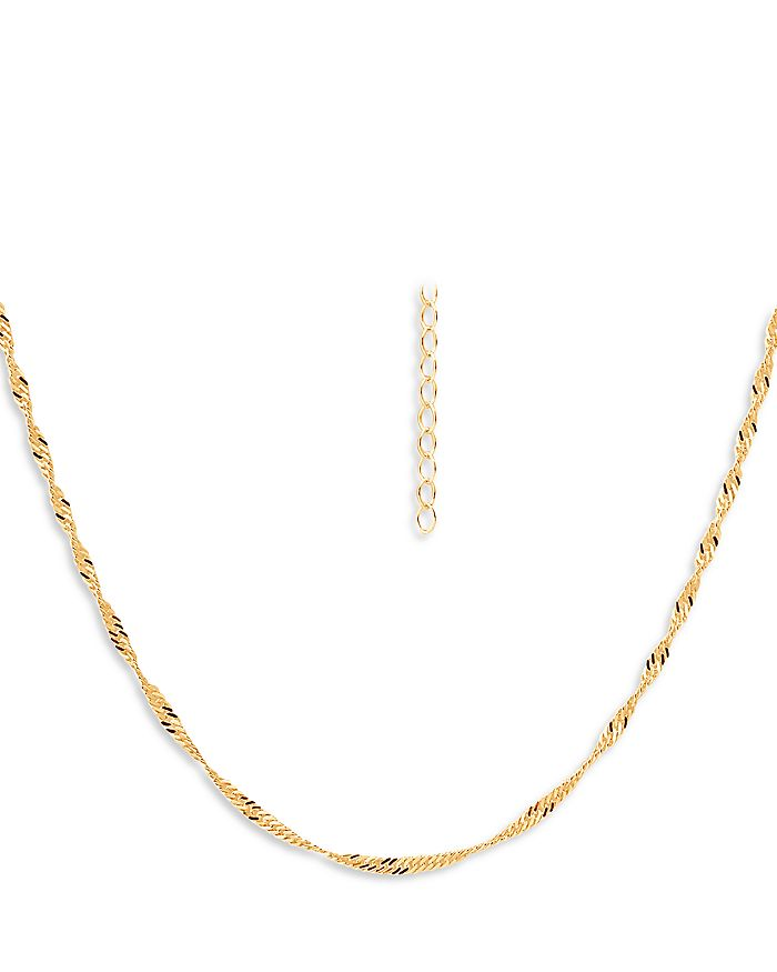 AQUA Necklaces TWISTED CURB CHAIN NECKLACE, 16 - 100% EXCLUSIVE