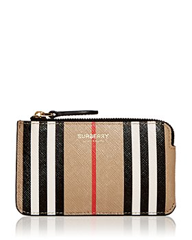 Burberry - Kelbrook Icon Stripe Leather Zip Pouch