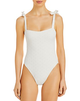 WeWoreWhat - Shoulder Tie One Piece Swimsuit