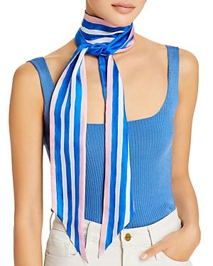 Painted Stripe Silk Scarf