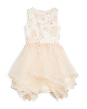 US Angels - Girls' Embroidered Handkerchief Hem Dress - Big Kid