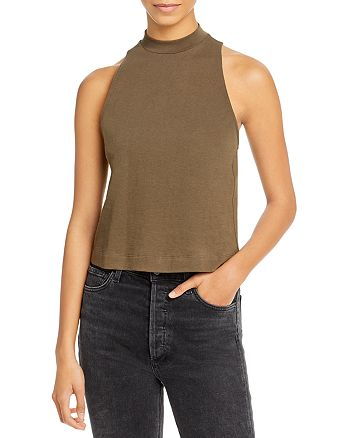Vince - Cropped Swing Halter Top