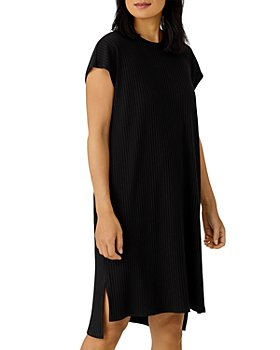 Eileen Fisher - Crewneck High/Low Shift Dress