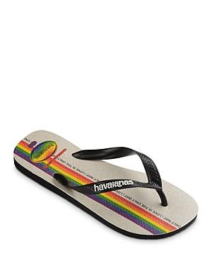 Women's Top Pride Love Is The Only Way Rainbow Rubber Flip Flops