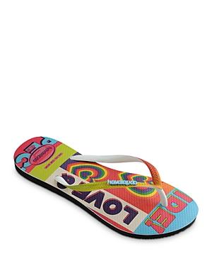 Women's Slim Pride Rainbow Rubber Flip Flops