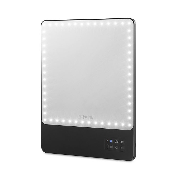 RIKI LOVES RIKI - Skinny LED Travel Magnifying Mirror with Bluetooth, 5X Magnification