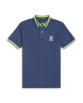 Psycho Bunny - Boys' Rushup Color Tipped Polo Shirt  - Little Kid, Big Kid