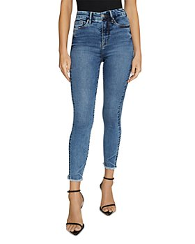 Good American - Good Waist Cropped Skinny Jeans in Blue633